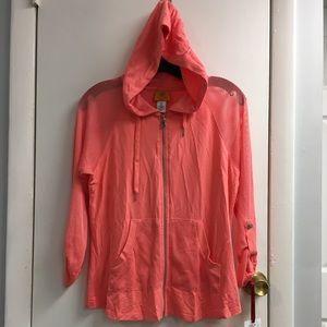 🔴 Ruby Rd. Beautiful meshed sleeve hoodie New